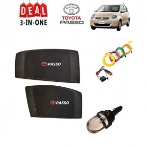 Pack of 3 - Accessories for Toyota Passo Multicolor # Deal 107