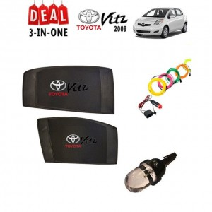 Pack of 3 - Accessories for Toyota Vitz 2009 to 2010 - Multicolor # 125