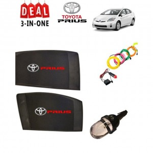 Pack of 3 - Accessories for Toyota Prius - Multicolor # Deal 108