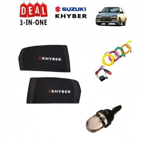 Pack of 3 - Accessories for Suzuki Khyber - Multicolor # Deal 114
