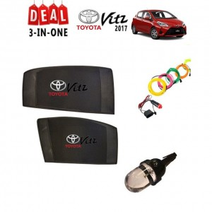 Pack of 3 - Accessories for Toyota Vitz 2011 to 2016 - Multicolor # Deal 126