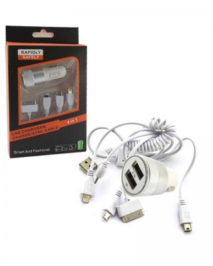 Fc Rohs Car Charger 4in1 Silver
