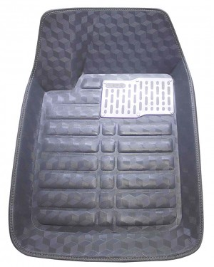 5D Universal Car Mats In glossy Gray