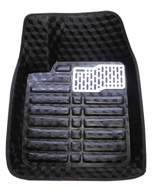 5D Universal Car Mats In Glossy Black
