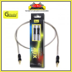 Gdada - 1m Stereo Jack with Metal Spring Body - AUX Cable 3.5mm Coiled Lead Male Audio with Gold Plated