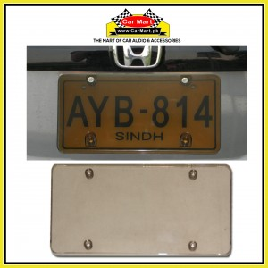 Acrylic Blackish Transparent Number Plate Frame - Acrylic Blackish Transparent License Plate frame