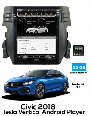 Honda Civic 2018 Tesla Style Android Player