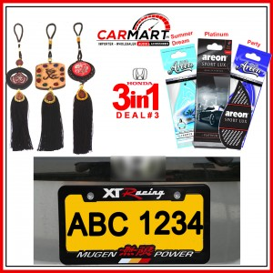 Deal # 3 - Honda 3 in 1 Deal - Number Plate Cover, Perfume Card, Islamic Hanging