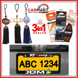 Deal # 9 - Honda 3 in 1 Deal - Number Plate Cover, Perfume Card, Islamic Hanging