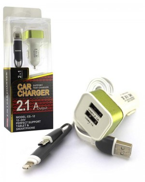 Es 12 2in1 Car Charger Green