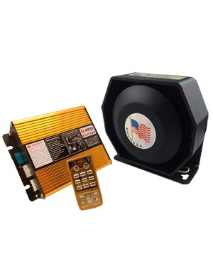 200w Wireless Police Hooter With Slim Fit Speaker