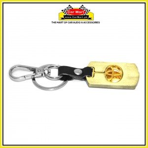 Toyota Gold Metallic Keychain with Key Hanger- High quality creative design Toyota Gold Metallic Keychain with Key Hanger
