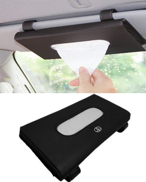 Toyota Sun Shade Tissue Box Black