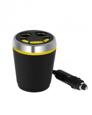 Car Multi Functional Cigarette Lighter - mug Bluetooth Car Kit with 2 Ports USB