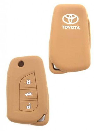 Car Key cover Toyota Brown