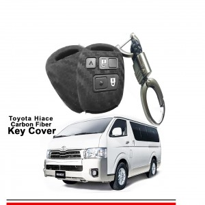 Carbon Fiber Style Car Key Cover for Toyota Passo,Hiace with High Quality Rob Keychain