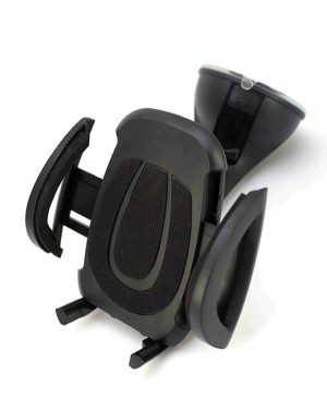 360 Degree Car Mobile Holder Black