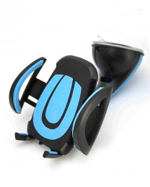360 Degree Car Mobile Holder Blue