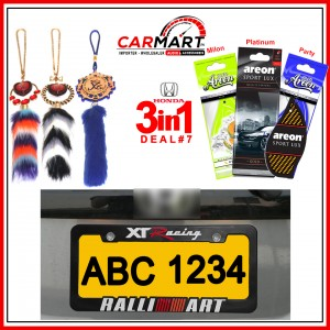 Deal # 7 - Honda 3 in 1 Deal - Number Plate Cover, Perfume Card, Islamic Hanging