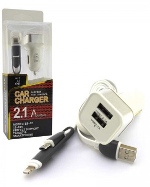 Es 12 2in1 Car Charger Silver