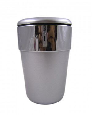 Silver Strip Cup Holder - Ashtray - Silver