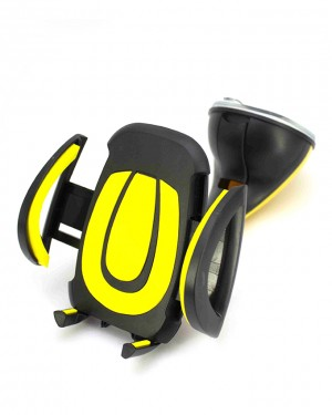 360 Degree Car Mobile Holder Yellow
