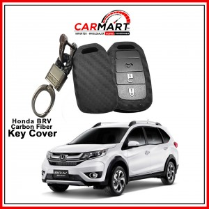 Carbon Fiber Style Car Key Cover for Honda BRV with High Quality Rob Keychain