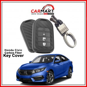 Carbon Fiber Style Car Key Cover for Honda Civic, CRZ with High Quality Rob Keychain
