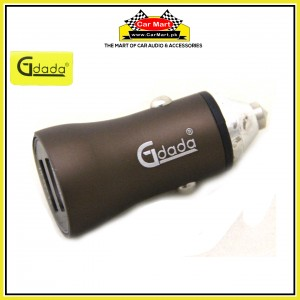 Gdada Capsule Car Charger with 2 Usb Port 1A and 2.4A