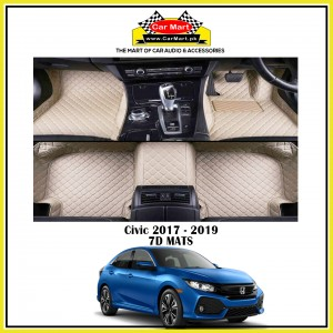 Civic 2017 - 2019 7D Floor mats - Beige