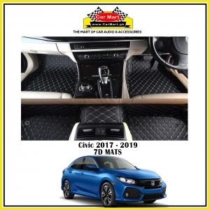 Civic 2017 - 2019 7D Floor mats - Black
