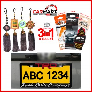 Deal # 1 - Toyota 3 in 1 Deal - Number Plate Cover, Perfume Card, Islamic Hanging