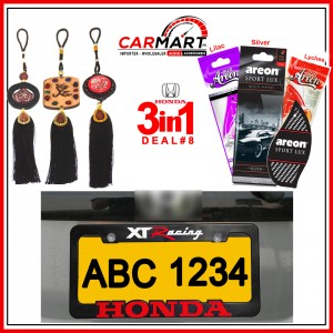 Deal # 8 - Honda 3 in 1 Deal - Number Plate Cover, Perfume Card, Islamic Hanging