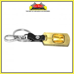 Honda Gold Metallic Keychain with Key Hanger- High quality creative design Honda Gold Metallic Keychain with Key Hanger