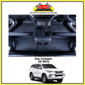 New Fortuner 5D Floor Mats - Black