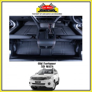 Old Fortuner 5D Floor Mats - Black