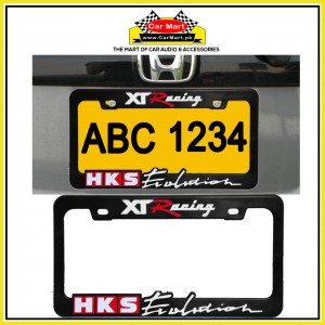 XT Racing HKS Number Plate Frame - XT Racing HKS License Plate frame