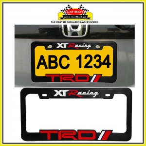 XT Racing TRD Number Plate Frame - XT Racing TRD License Plate frame