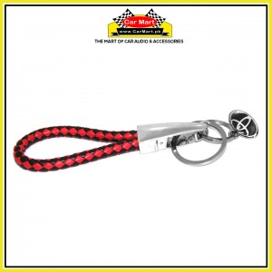 Toyota Rope Keychain with Dual Logo White and Black - High quality creative design Toyota Rope Keychain with Dual Logo Red and Black