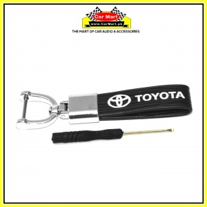 Toyota Rubber Keychain with Screw Driver - High quality creative design Toyota Rubber Keychain with Screw Driver