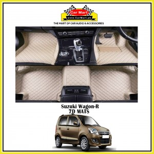 Suzuki Wagon-R 7D Floor mats - Black