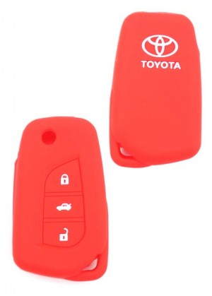 Car Key cover Toyota Red