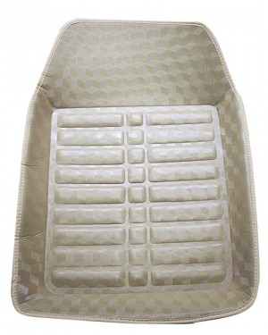 5D Universal Car Mats In Glossy Beige