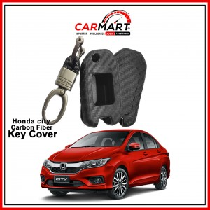 Carbon Fiber Style Car Key Cover for Honda City with High Quality Rob Keychain