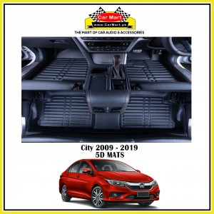 Honda City 2009 - 2019 5D Floor mats - Black