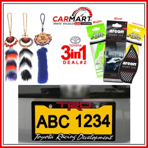Deal # 2 - Toyota 3 in 1 Deal - Number Plate Cover, Perfume Card, Islamic Hanging