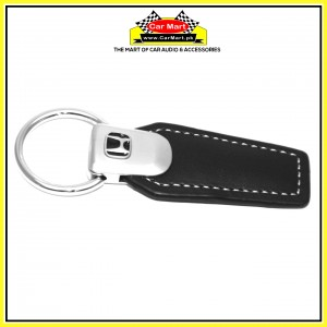 Honda Leather Keychain Silver and Black - High quality creative design Honda Leather Keychain Silver and Black