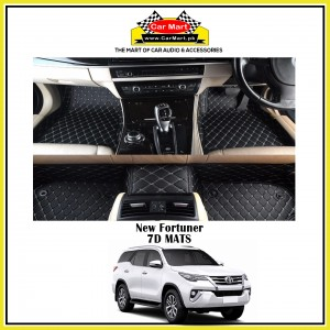 New Fortuner 7D Floor mats - Black