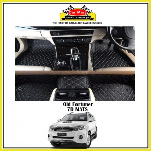 Old Fortuner 7D Floor mats - Black